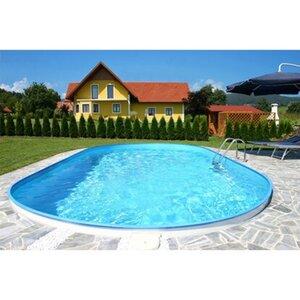 Summer Fun Stahlwand Pool-Set FLORIDA Einbaubecken Ovalf. 700x350x150cm