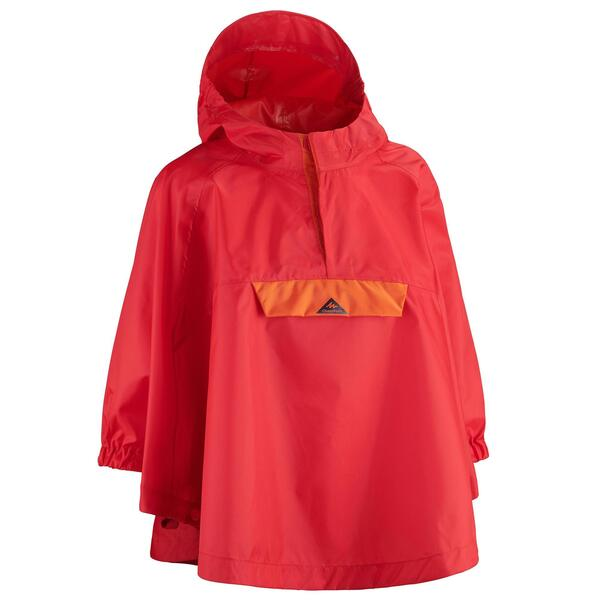 Regenponcho Wandern MH100 Kinder Gr.92–116 rot