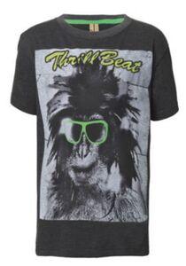 Streetkids Jungen T-Shirt Monkey Glass T-Shirts grau Gr. 140 Jungen Kinder