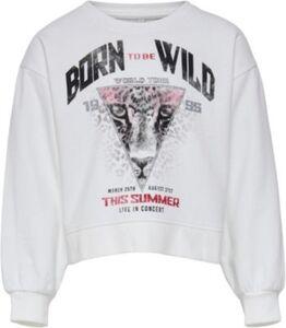 Sweatshirt KONLUCINDA , Organic Cotton weiß Gr. 122/128 Mädchen Kinder