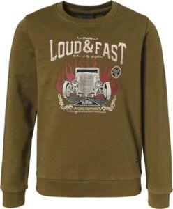 Sweatshirt , Organic Cotton von Oklahoma Premium Denim olive Gr. 170/176 Jungen Kinder