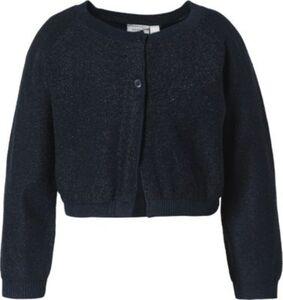 Strickjacke NMFRIGMOR , Organic Cotton dunkelblau Gr. 98 Mädchen Kleinkinder