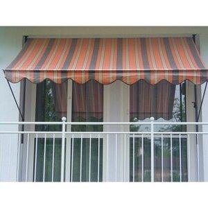 Angerer Klemmmarkise Standard Orange-Braun-Beige 150 cm x 250 cm