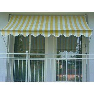 Angerer Klemmmarkise Standard Gelb/Weiß 150 cm x 150 cm
