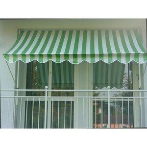 Angerer Klemmmarkise Standard Grün/Weiß 150 cm x 200 cm