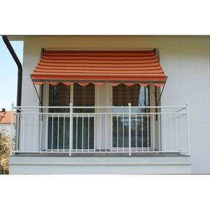 Angerer Klemmmarkise Exklusiv Orange-Braun 150 cm x 150 cm