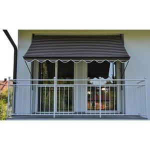 Angerer Klemmmarkise Exklusiv Schokobraun-Creme 150 cm x 150 cm