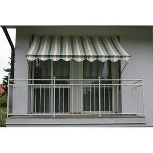 Angerer Klemmmarkise Standard Grün-Weiß-Beige 150 cm x 150 cm