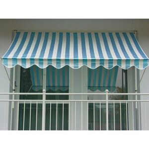Angerer Klemmmarkise Standard Blau-Weiß 150 cm x 150 cm