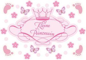 Wandsticker, Kleine Prinzessin, 67 x 47 cm rosa