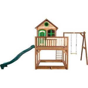 Spielhaus Liam mit Rutsche und Schaukel