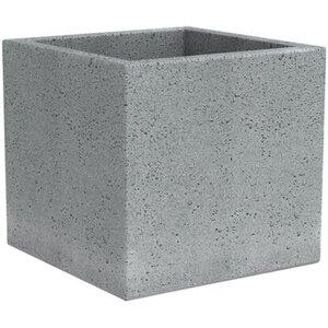 Scheurich Pflanzgefäß C-Cube 240 Ø 28,5 cm Stony Grey