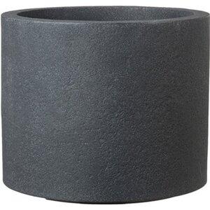 Scheurich Pflanzgefäß Riva Ø 29 cm x 25 cm Schwarz Granit