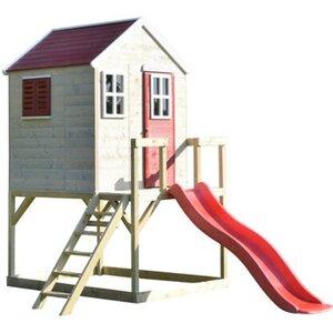 Wendi Toys Kinderspielturm Tiger inkl. Veranda & Rutsche 242 cm x 197 cm x 290 c