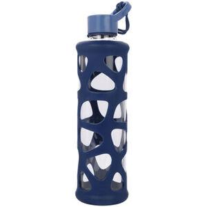 "Leonardo To go Flasche ""In Giro"", handgefertigt, 0,7 l, blau/transparent"