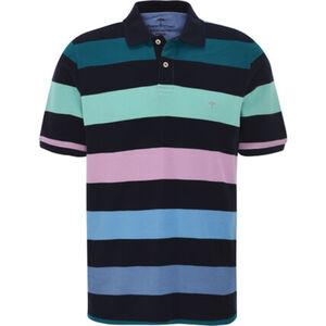 Fynch-Hatton Poloshirt, 1/2 Arm, Baumwolle, Blockstreifen, für Herren