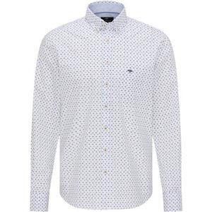 Fynch-Hatton Freizeithemd, Langarm, Button-Down-Kragen, Floral, Brusttasche, Stickerei, für Herren
