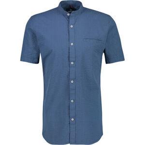 Lerros Hemd, Kurzarm, Mandarin-Kragen, sportiv, Brusttasche, für Herren