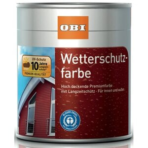 OBI Wetterschutzfarbe Schokoladenbraun seidenmatt 750 ml
