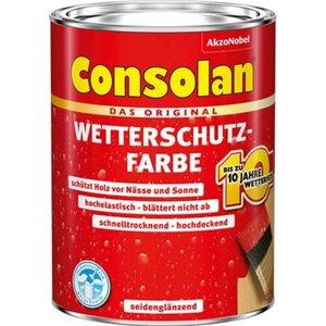Consolan Wetterschutzfarbe Weiß seidenglänzend 750 ml