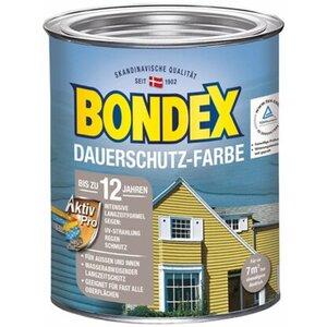 Bondex Dauerschutz-Farbe Granitgrau-Platinium seidenglänzend 750ml