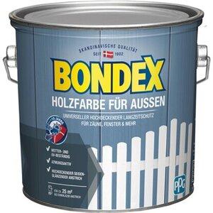 Bondex Holzfarbe für Aussen Weiß seidenmatt 2,5 L