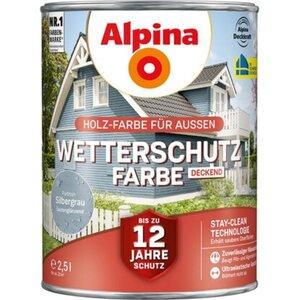 Alpina Wetterschutzfarbe Silbergrau 2,5 l