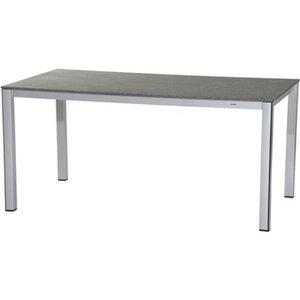 MWH Elements Tisch Silber Grau 160x90x74 cm