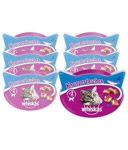 Whiskas® Katzensnack Knuspertaschen, 6 x 72g