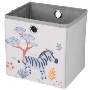 Kleine Aufbewahrungsbox mit Zebra-Motiv