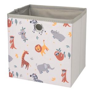 Kleine Aufbewahrungsbox mit Tier-Motiven