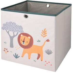Aufbewahrungsbox mit Löwen-Motiv