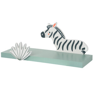 Wandregal mit Zebra-Motiv