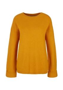 Damen Pullover mit Zopfmuster-Detail