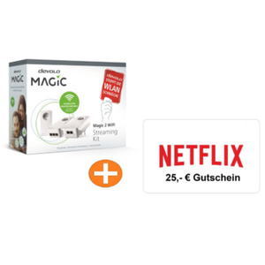 Devolo Magic 2 WiFi Streaming Kit inkl. Netflix 25,-€ Gutschein