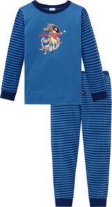 Schiesser Single-Jersey Kinder-Schlafanzug  Streifen langarm#lange Hose 92