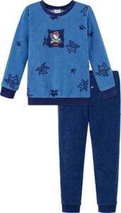 Schiesser Frottee Kinder-Schlafanzug  gemustert langarm#lange Hose 98