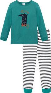 Schiesser Single-Jersey Kinder-Schlafanzug Natural Love  Streifen langarm#lange Hose 92