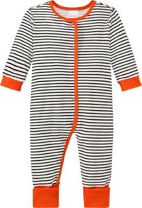 Schiesser Frottee Baby-Schlafanzug Natural Love  Streifen langarm 80