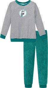 Schiesser Frottee Kinder-Schlafanzug Natural Love  Streifen#Tiermotive langarm#lange Hose 92
