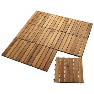Holzfliesen KNEKKAND (30x30, Akazie, 9 Stück)