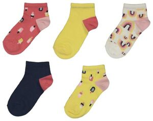 HEMA 5er-Pack Kinder-Socken, Eis Bunt