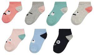 HEMA 7er-Pack Kinder-Socken, Stimmungen Bunt