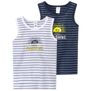 2 Baby Unterhemden im Streifen-Look