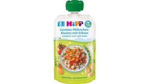 HiPP Bio Menüs Quetschbeutel Gemüse-Hühnchen-Risotto mit Erbsen