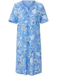 Nachthemd 1/2-Arm Rösch blau Größe: 44