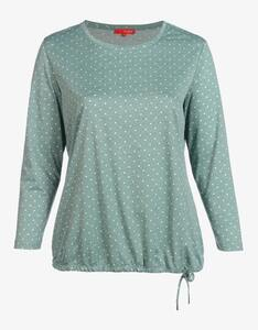 Thea - Jacquard-Jersey-Shirt mit Punkten allover