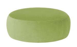 pop Samt Hocker  Amadi - grün - Polstermöbel