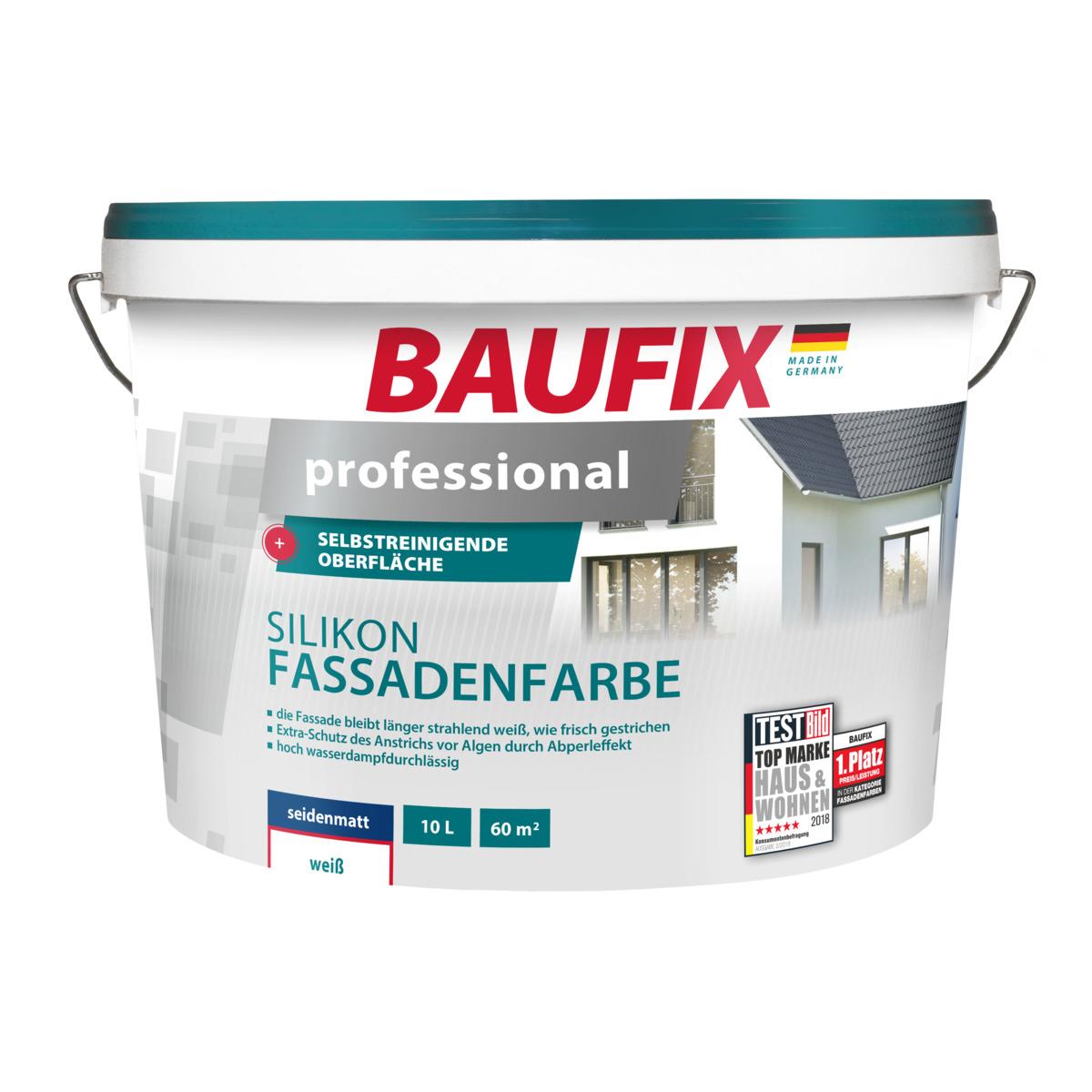 Bild 1 von BAUFIX professional Silikon-Fassadenfarbe weiß 10 L