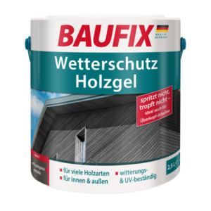 BAUFIX Wetterschutz-Holzgel anthrazitgrau metallic 2,5L